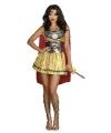 Sexy gladiator kostuum met cape voor dames