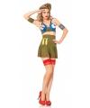 Sexy leger piloot kostuum voor dames