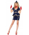 Sexy stewardess kostuum 3 delig