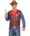 Sheriff verkleed shirt voor heren