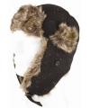 Siberische bontmuts zwart