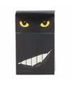 Sigarettenpakje hoesje gele katten ogen