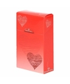 Sigarettenpakje hoesje met hartjes