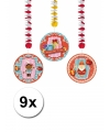 Sinterklaas rotorspiralen sint 9 stuks