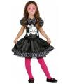 Skelet jurkje met stippen voor meisjes