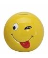 Smiley spaarpot met knipoog 13 cm