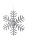 Sneeuwvlok decoratie zilver 14 5 cm type 1