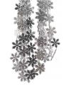Sneeuwvlok slinger zilver 270 cm