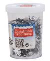 Sneeuwvlokken confetti zilver