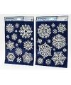 Sneeuwvlokken glitter raamstickers
