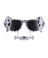 Snorbril dalmatier hond