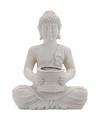 Solar lamp boeddha wit 28 cm