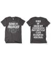 Sons of anarchy grijs shirt heren