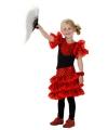 Spaanse jurk rood voor meisjes