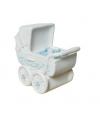 Spaarpop blauwe kinderwagen