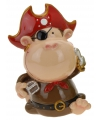 Spaarpot aap piraat bruin 15 cm