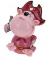 Spaarpot aap piraat roze 15 cm