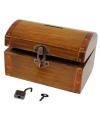 Spaarpot antiek houten kistje