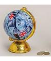 Spaarpot blauwe globe