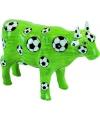 Spaarpot groene voetbal koe