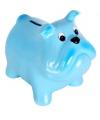 Spaarpot hond blauw 15 cm