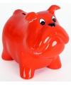 Spaarpot hond rood 15 cm