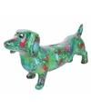 Spaarpot hond teckel 19 cm groen