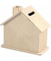 Spaarpot houten huisje 10 cm