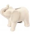 Spaarpot indiaase olifant wit klei