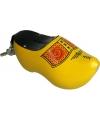 Spaarpot klomp geel zwart 16 cm