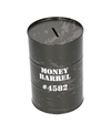 Spaarpot money barrel grijs