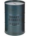 Spaarpot money barrel groen 15 cm