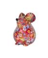 Spaarpot muis 17 cm rood type 2