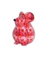 Spaarpot muis 17 cm roze