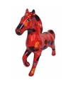 Spaarpot paard 21 cm rood