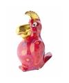 Spaarpot papegaai 22 cm rood