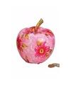 Spaarpot roze appel 14 cm