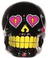 Spaarpot schedel zwart 15 cm