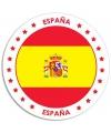 Spanje sticker rond 14 8 cm