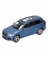 Speelgoed blauwe volvo xc 90 2015 auto 16 cm