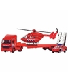 Speelgoed brandweer set 3 delig 26 cm
