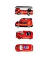 Speelgoed brandweerauto set 4 stuks