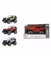 Speelgoed gele jeep wrangler auto 27 5 cm