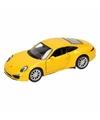 Speelgoed gele porsche 911 carrera s auto 1 36