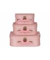 Speelgoed koffertje licht roze 25 cm