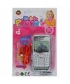 Speelgoed mobiele telefoon zilver