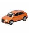 Speelgoed oranje audi q3 auto 12 cm