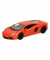 Speelgoed oranje lamborghini aventador lp700 4 auto 12 cm