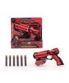 Speelgoed pistool rood zwart 18 cm