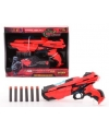 Speelgoed pistool rood zwart 29 cm
